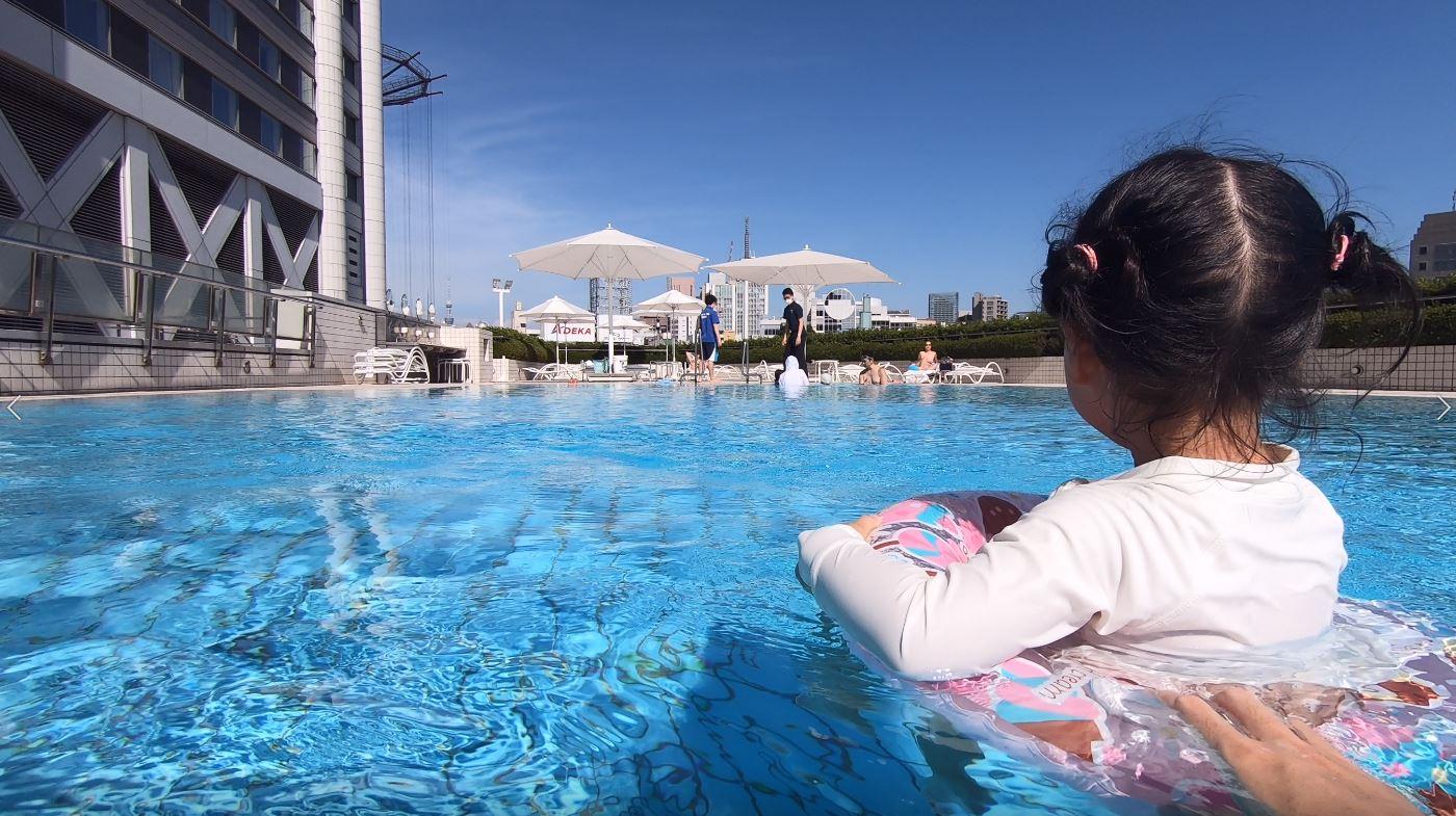 【夏休み】後楽園で水遊び&東京ドームホテルでプールを満喫